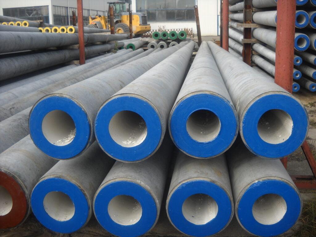 E-type spun concrete poles