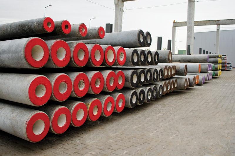 ● E-type spun concrete poles