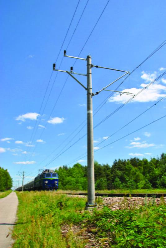 ETG poles of railway tractions