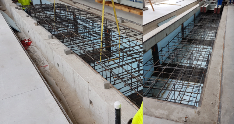 We verify with the subcontractor the location of connection points for powering machines and the correctness of execution of the foundations under spinners.